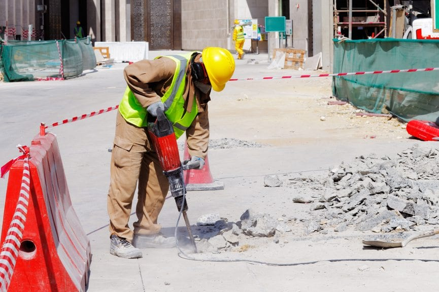 Fall On Construction Site